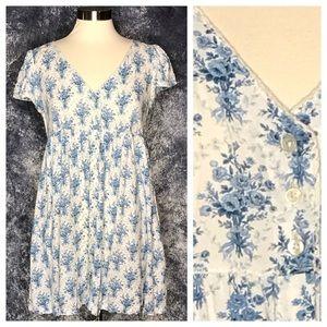 ✂️ Denim & Supply babydoll dress blue toile M